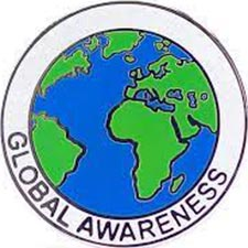 A globe with the words 'Global Awareness' below it.