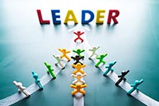 The word 'Leader'.